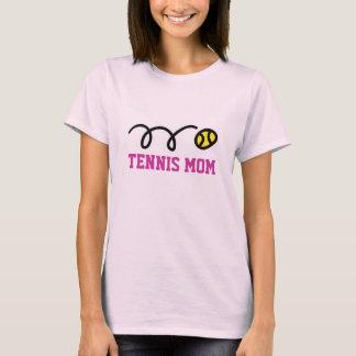 Camiseta T-shirt da mamã do tênis - ideia do presente para