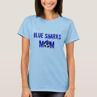 Camiseta T-shirt da mamã dos tubarões azuis