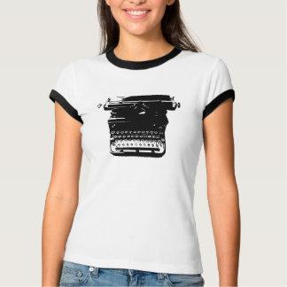 Camiseta T-shirt da máquina de escrever do vintage