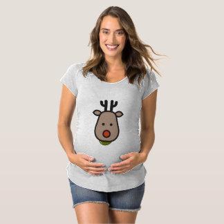Camiseta T-shirt da maternidade do Natal da rena