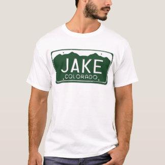 Camiseta T-shirt da matrícula de JAKE Colorado