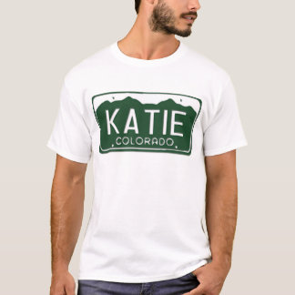 Camiseta T-shirt da matrícula de KATIE Colorado
