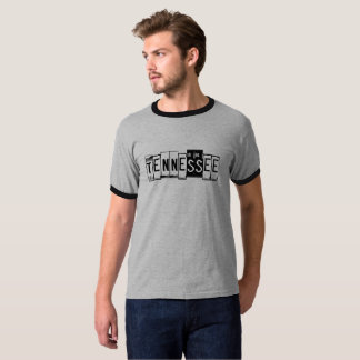 Camiseta T-shirt da matrícula de Tennessee