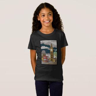 Camiseta T-shirt da menina de Londres