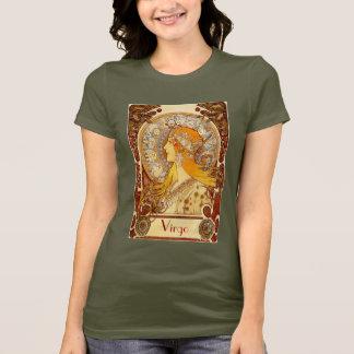 Camiseta T-shirt da menina do zodíaco do vintage