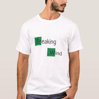 Camiseta t-shirt da mesa periódica de vento de quebra