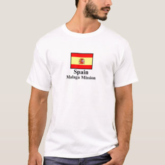 Camiseta T-shirt da missão de Malaga da espanha
