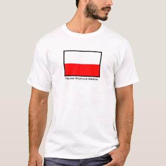 Camiseta T-shirt da missão de Varsóvia LDS do Polônia