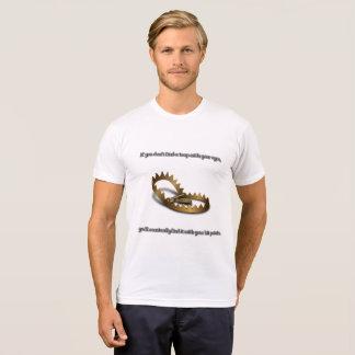Camiseta T-shirt da mistura do Poli-Algodão dos homens da