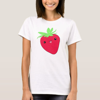 Camiseta T-shirt da morango de Kawaii