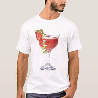 Camiseta T-shirt da morango do daiquiri