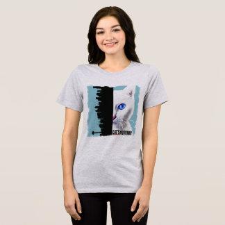 Camiseta T-shirt da mulher da anatomia do gato