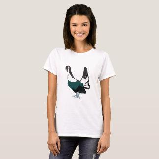 Camiseta T-shirt da mulher do pássaro do galo silvestre
