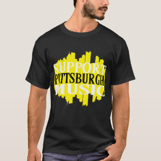 Camiseta T-shirt da música de Pittsburgh do apoio