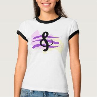 Camiseta T-shirt da música do G-Clef do KRW
