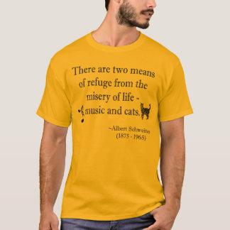 Camiseta T-shirt da música e da cotação dos gatos