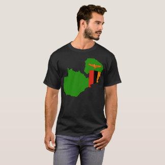Camiseta T-shirt da nação da Zâmbia