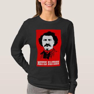 Camiseta T-shirt da nação de Metis (escuro)