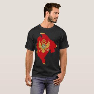 Camiseta T-shirt da nação de Montenegro