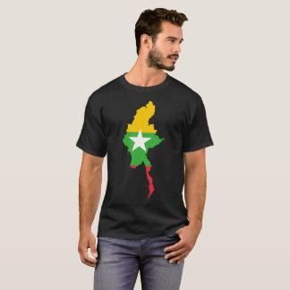 Camiseta T-shirt da nação de Myanmar