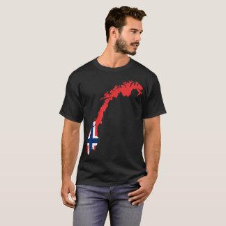 Camiseta T-shirt da nação de Noruega