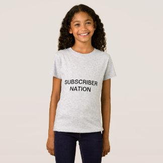 Camiseta T-shirt da nação do subscritor das MENINAS