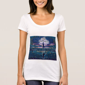 Camiseta T-shirt da noite estrelado de Namaste