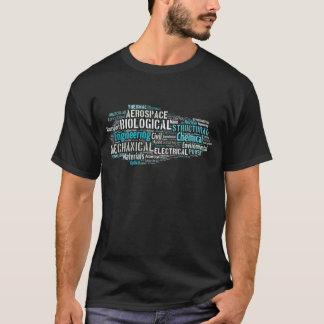 Camiseta T-shirt da nuvem da palavra da engenharia