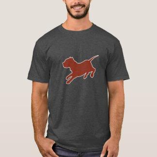 Camiseta T-shirt da obscuridade da silhueta de Brown