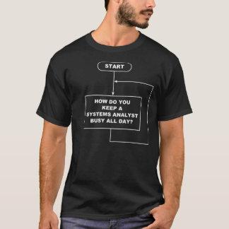 Camiseta T-shirt da obscuridade do analista de sistemas