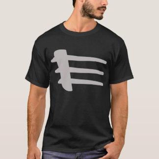 Camiseta T-shirt da obscuridade do Strake do lado da prata