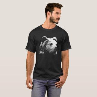 Camiseta T-shirt da obscuridade do urso do urso da papá