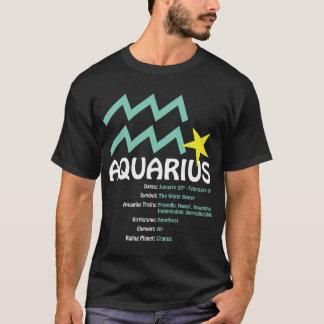 Camiseta T-shirt da obscuridade dos traços do Aquário