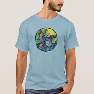 Camiseta T-shirt da onça do homem do espantalho e da lata