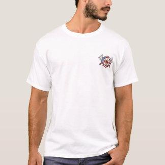 Camiseta T-shirt da oração da cruz maltesa/sapador-bombeiro