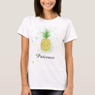Camiseta T-shirt da paciência do T do abacaxi em o