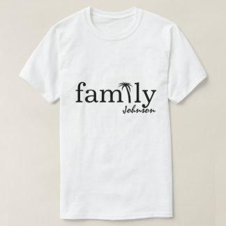 Camiseta T-shirt da palmeira da família
