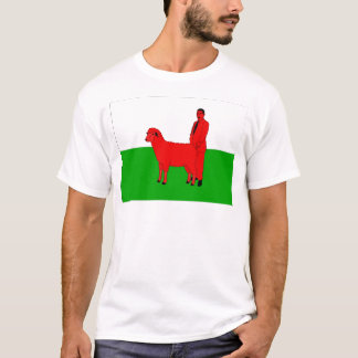 Camiseta T-shirt da paródia da bandeira de Galês