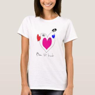 Camiseta T-shirt da paz do amor