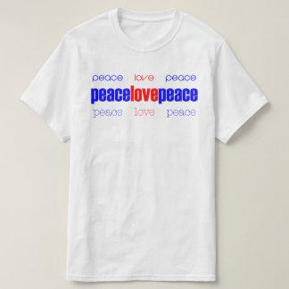 Camiseta T-shirt da paz do amor da paz