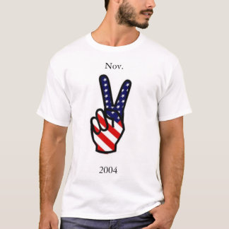 Camiseta T-shirt da paz do voto