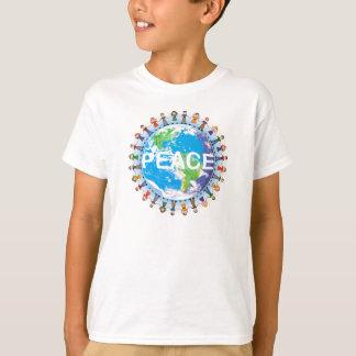 Camiseta T-shirt da paz dos miúdos - crianças que guardaram