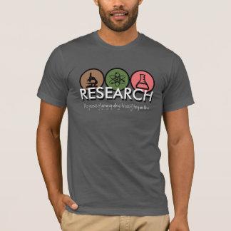 Camiseta T-shirt da pesquisa