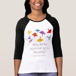 Camiseta t-shirt da piada do partido do cogumelo