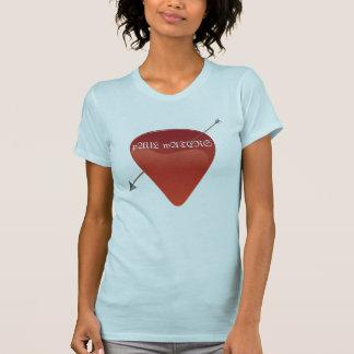 Camiseta T-shirt da picareta da guitarra
