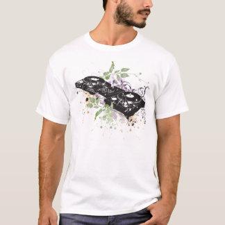Camiseta T-shirt da plataforma giratória do DJ
