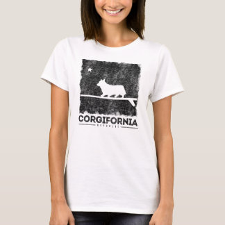 Camiseta T-shirt da prancha do Corgi de Califórnia