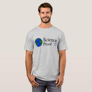 Camiseta T-shirt da prova das ciências da terra