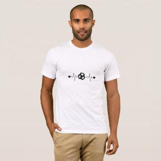 Camiseta T-shirt da pulsação do coração do futebol