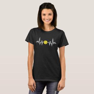 Camiseta T-shirt da pulsação do coração EKG do jogador de